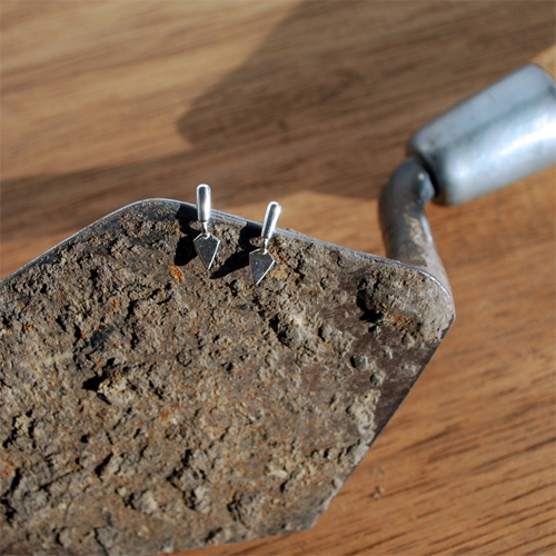 Tiny Trowel Earrings